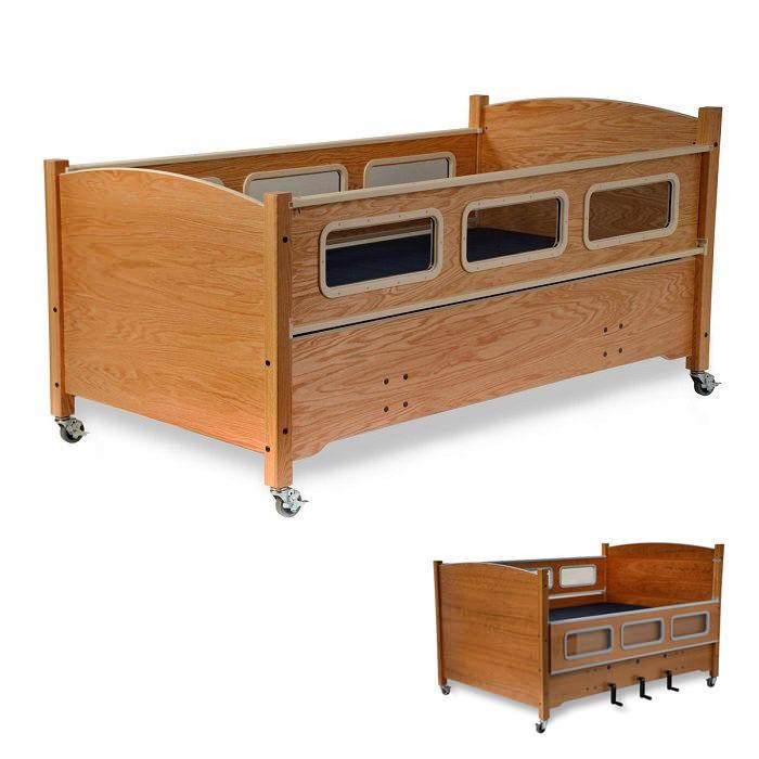 SleepSafe manual height adjustable low bed