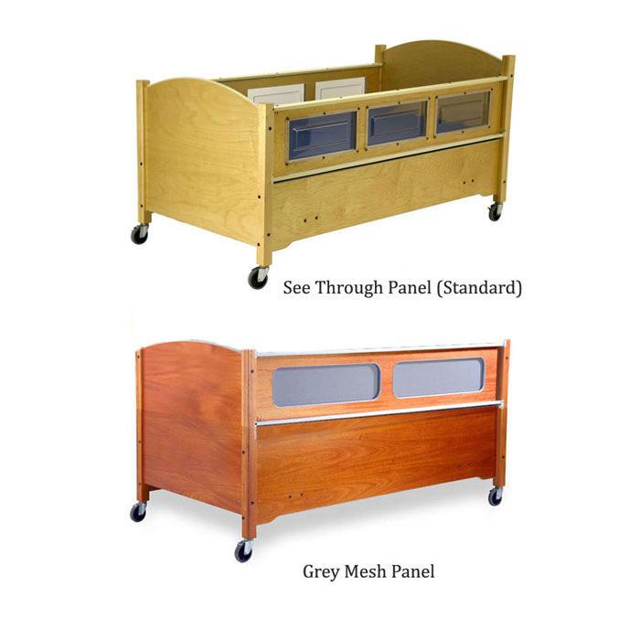 SleepSafe height adjustable low bed