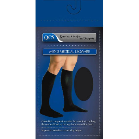 Scott Specialties Knee-High Compression Socks, Black, Closed Toe