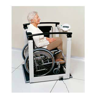 Seca 684 Multifunction Wheelchair/Handrail Scale With Seat | Medicaleshop
