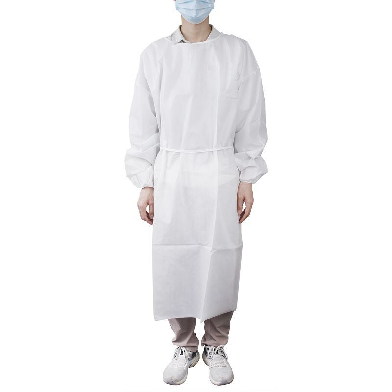 Secure Personal Care Non-Surgical Polyethylene Isolation Gown, AAMI Level 2