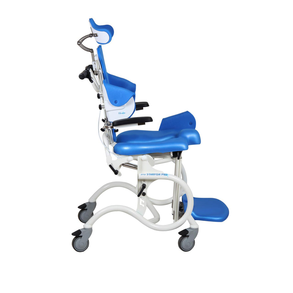Starfish Pro manual height adjustable shower commode chair