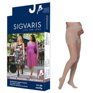 Sigvaris Sheer Fashion Maternity Pantyhose, Size D, 15-20 mmHg
