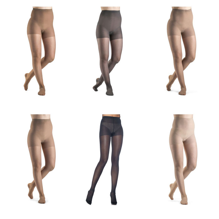 Sigvaris Sheer Fashion Compression Pantyhose 15-20 mmHg, Size A