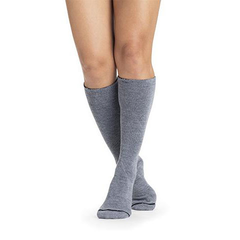 Sigvaris Basic Liners Non-Compression Knee-High Closed Toe Grey