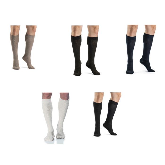 Sigvaris Casual Cotton Mens Calf High Compression Socks 15-20 mmHg, Size B