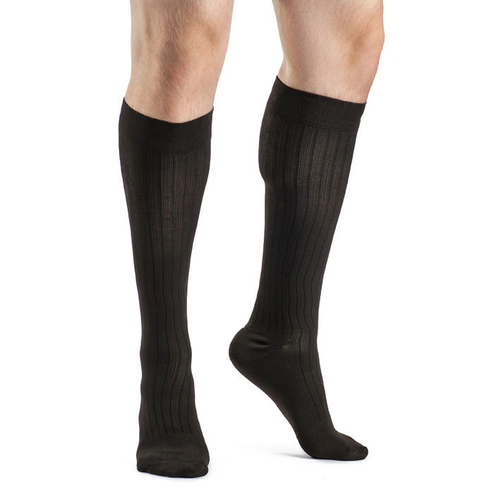 Sigvaris Business Casual Men's Calf-High Compression Sock Size C, 15-20 mmHg