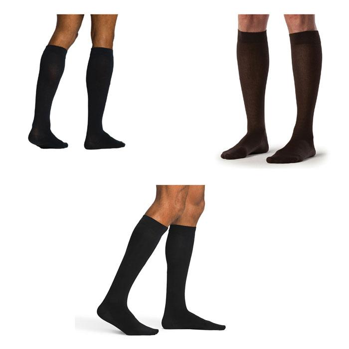Sigvaris Zurich Sea Island Cotton Calf High Socks 20-30 mmHg, Small-Short