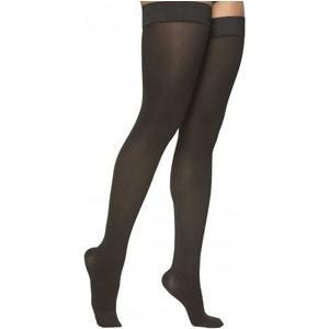 Sigvaris Cotton Ribbed Women's Thigh-High Compression Stockings, Medium Long, 20-30 mmHg