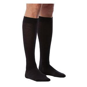 Sigvaris Zurich All Season Wool Calf High Women's Socks, 20-30 mmHg, Medium-Long, Navy