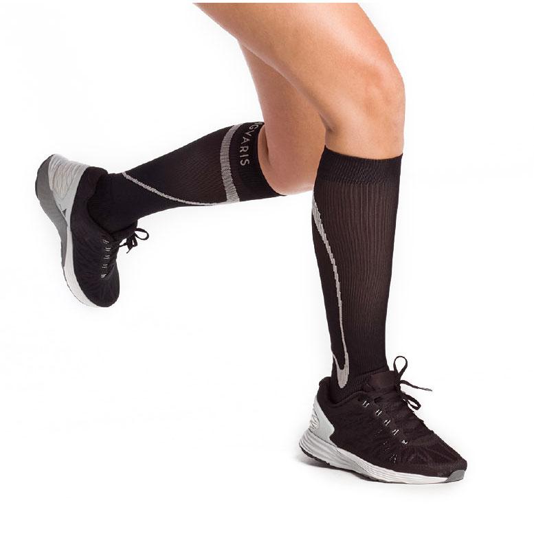 Sigvaris Traverse Calf High Socks, 20-30 mmHg, Large-Medium, Black