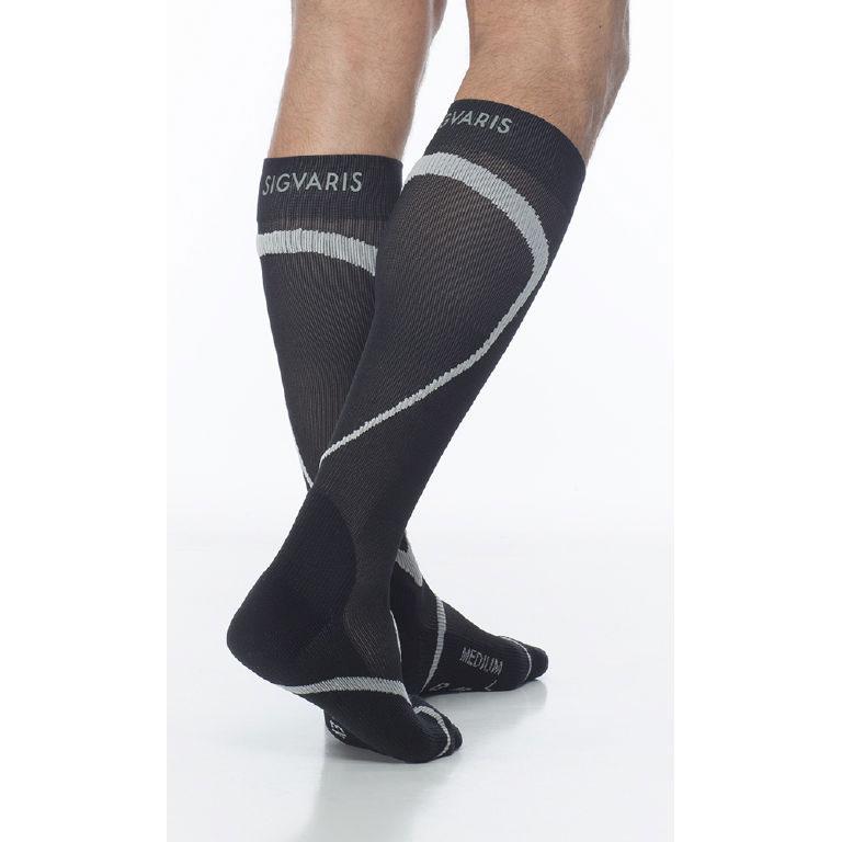 Sigvaris Traverse Calf High Socks, 20-30 mmHg, Medium, Black
