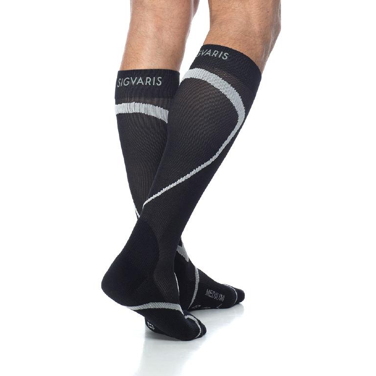 Sigvaris Traverse Calf High Socks, 20-30 mmHg, Small-Large, Black