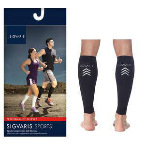 Sigvaris Sports Performance Compression Calf Sleeve, Large, 20-30 mmHg