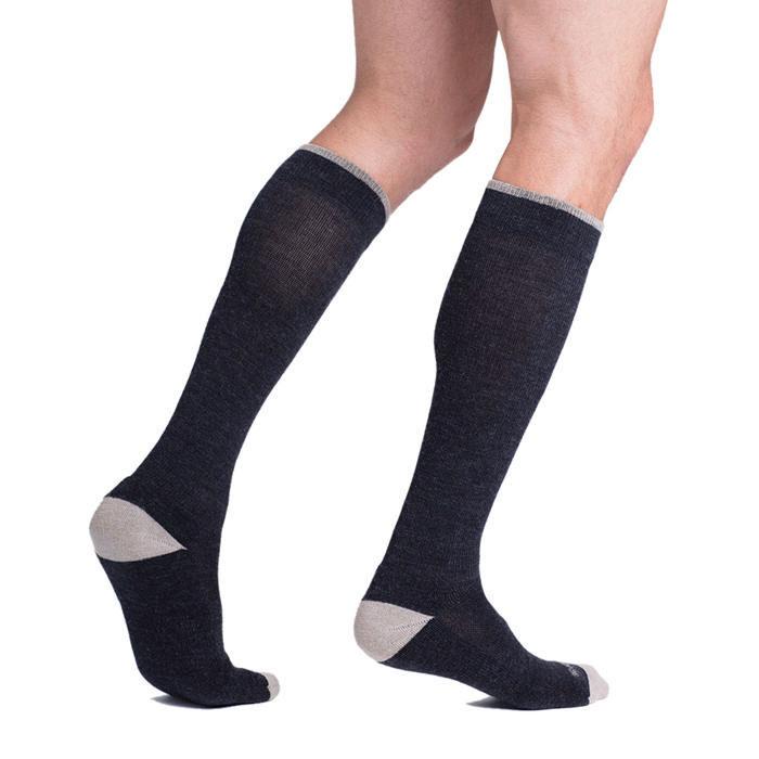 Sigvaris Merino Outdoor Performance Calf-High Compression Socks Large Long, 20-30 mmHg