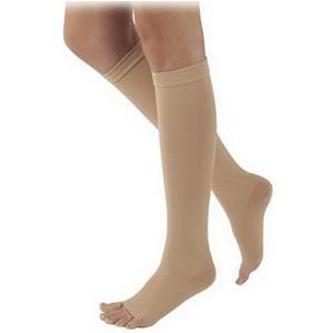 Sigvaris Natural Rubber Thigh High Stockings with Grip-top S4 Size, 40-50 mmHg