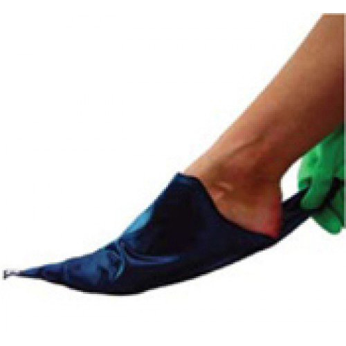 Sigvaris Silk Foot Slippie for Open Toe Compression Stockings Unisex Blue