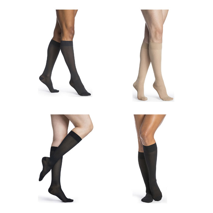 Sigvaris Womens Midsheer Calf High Compression Socks 20-30mmHg, Large