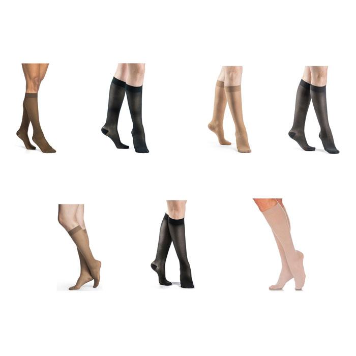 Sigvaris Eversheer Calf High Compression Socks 15-20 mmHg, Small-Long