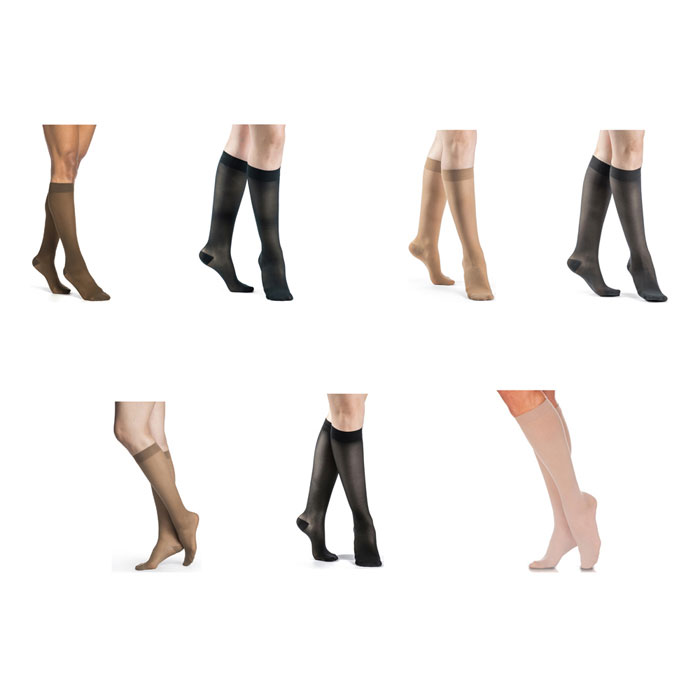 Sigvaris Eversheer Calf High Compression Socks 15-20 mmHg, Small-Short