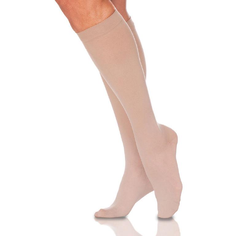 Sigvaris EverSheer Women's Calf-High Compression Socks, Small Short, Natural, 15-20 mmHg- Pair