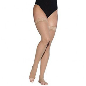 Sigvaris EverSheer Women's Thigh-High Compression Stocking, Medium Long, 15 to 20 mmHg