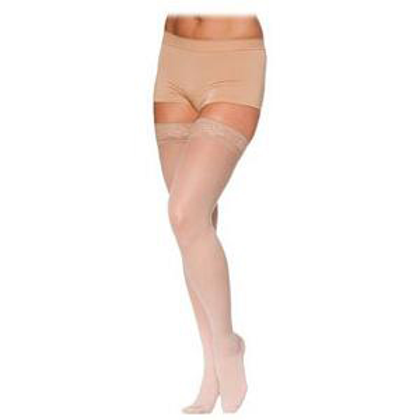 Sigvaris EverSheer Women's Thigh-High Compression Stockings w/Grip Top, Large Long 20-30 mmHg- Pair