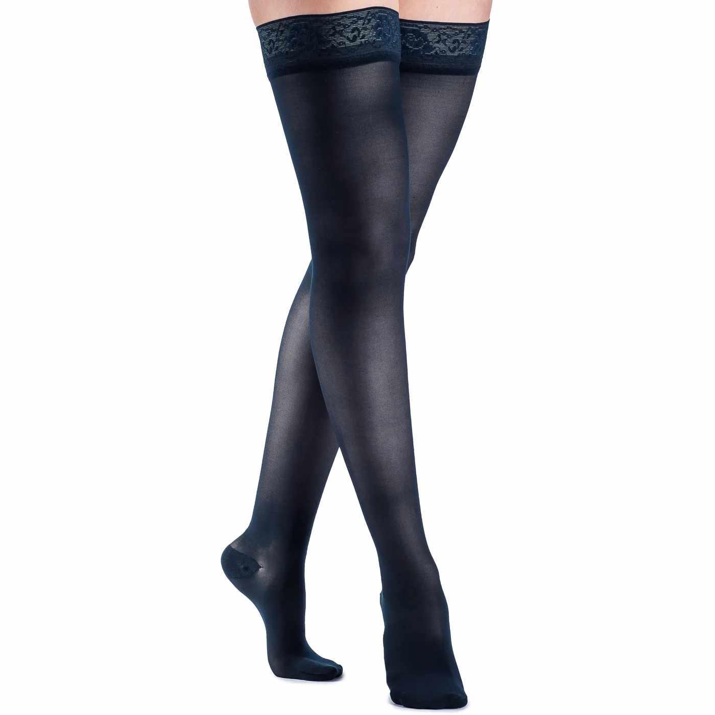 Sigvaris EverSheer Compression Stocking, Thigh-High, Closed Toe, Medium Short 20-30 mmHg- Pair