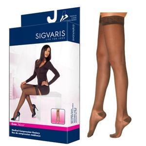 Sigvaris EverSheer Compression Stocking, Thigh-High, Medium Short, 20-30 mmHg