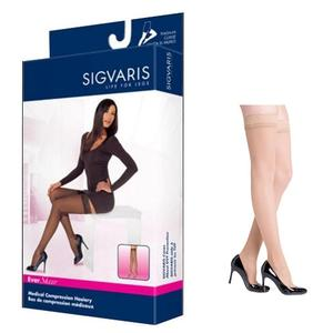 Sigvaris EverSheer Compression Stocking, Thigh-High, Large Short, 30-40 mmHg