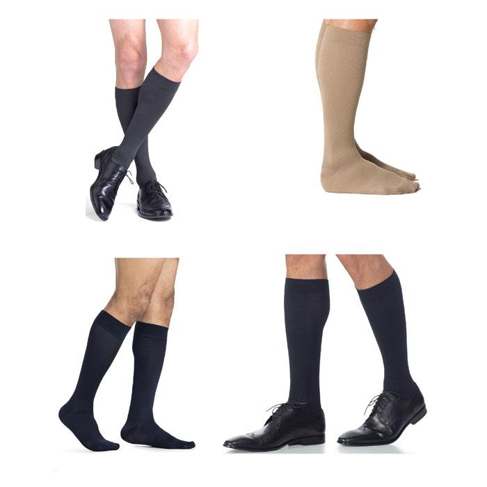 Sigvaris Midtown Microfiber Calf High Compression Socks 15-20mmHg, Large-Short