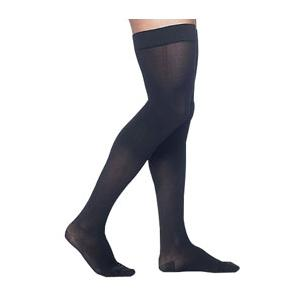 Sigvaris Midtown Microfiber Men's Thigh-High Compression Stockings, Large Short, 30-40 mmHg