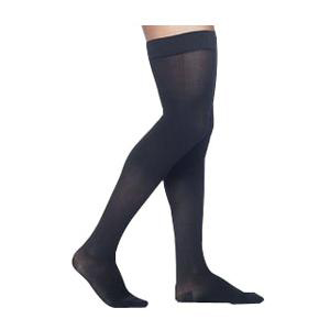 Sigvaris Midtown Microfiber Men's Thigh-High Compression Stockings, Medium Short, 30-40 mmHg