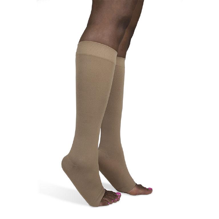 Sigvaris Soft Opaque Women's Thigh-High Moderate Compression Socks, Medium Short 15-20 mmHg- Pair