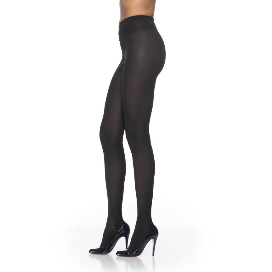 Sigvaris Soft Opaque Women's Compression Pantyhose, Small Long, Black, 20 to 30mmHg