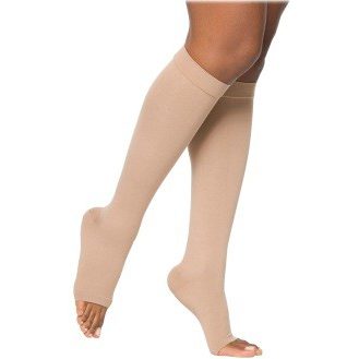 Sigvaris Select Comfort Waist Compression Stockings, 20-30 mmHg Large-Long, Right, Crispa