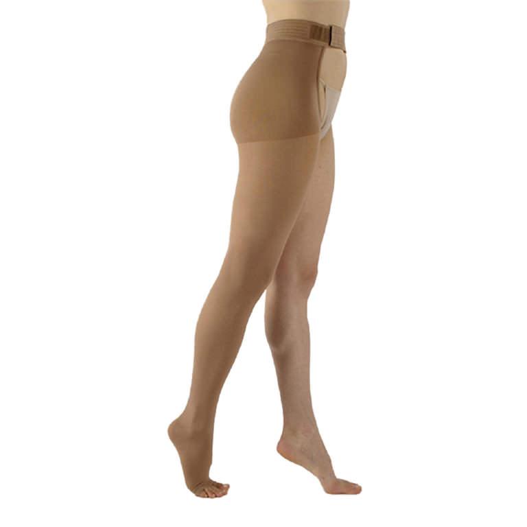Sigvaris Select Comfort Waist Compression Stockings, 20-30 mmHg Large-Long, Right, Crispa