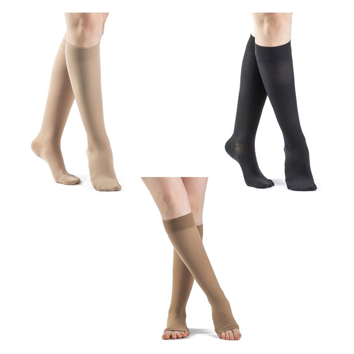 Sigvaris Select Comfort Calf High Compression Socks Grip, Toe, 30-40 mmHg, Extra-Large