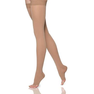 Sigvaris Select Comfort Thigh-High Compression Stockings, Grip Top Medium Long 30