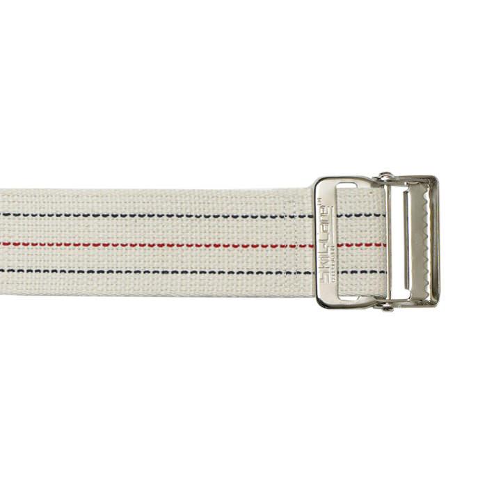 """Skil-care 60"""" heavy-duty cotton webbing, pinstripe metal buckle gait belt"""