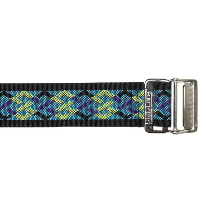 "Skil-care 60"" nylon geo pattern B, metal buckle gait belt"