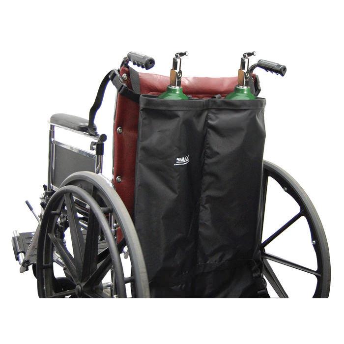 Skil-care double tank oxygen cylinder holder