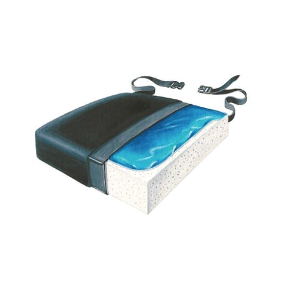"""Skil-care classic gel-foam 16"""" D x 18"""" W x 2-1/2"""" H Seat cushion"""