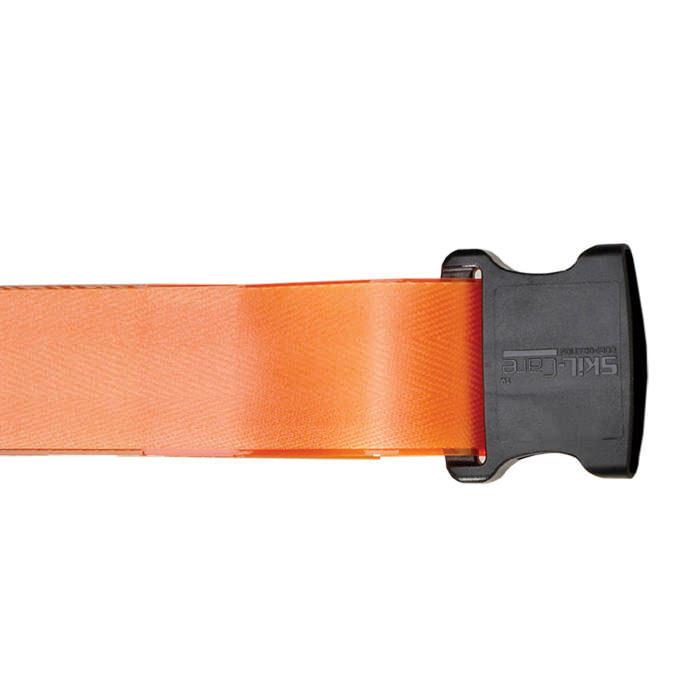 "Skil-care 72"" orange pathoshield plastic coated webbing gait belt"