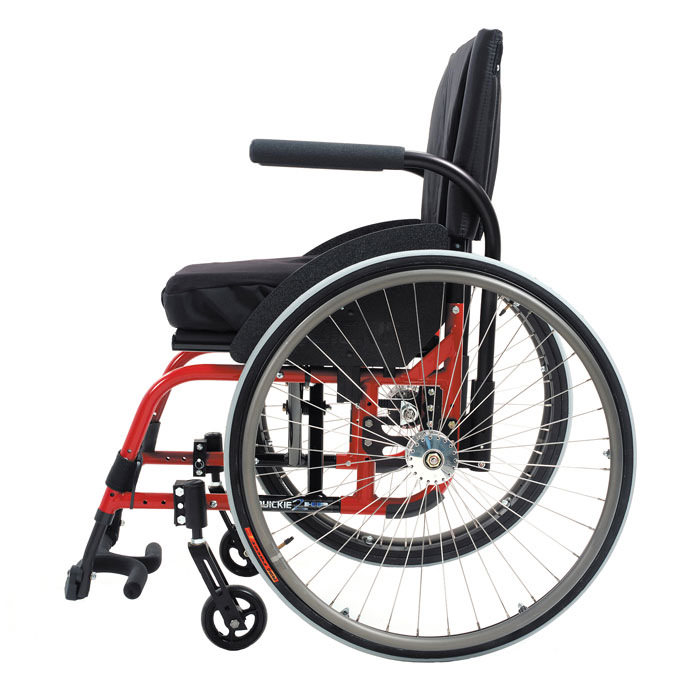 Quickie 2HP folding wheelchair side view
