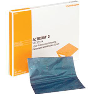 """Acticoat Antimicrobial Barrier Burn Dressing with Nanocrystalline Silver 8"""" x 16"""""""