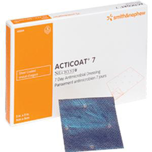 """Acticoat Seven-Day, Low Adherent, Antimicrobial Barrier 2"""" x 2"""""""