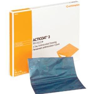 """Acticoat Antimicrobial Barrier Burn Dressing with Nanocrystalline Silver, 2"""" x 2"""""""