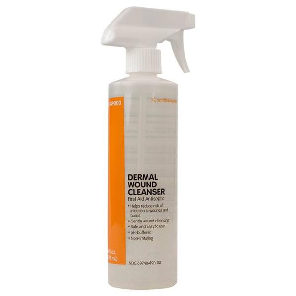 Dermal Wound Cleanser Spray pH-Balanced, Non-Toxic, Non-Irritating, No Rinse 16 oz