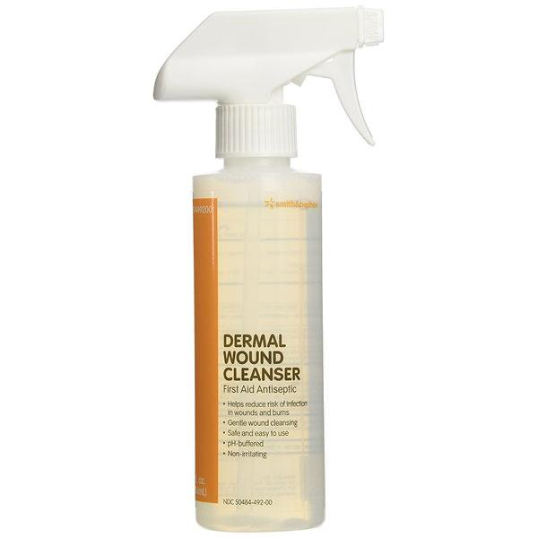 Dermal pH-Balanced Wound Cleanser Spray, No Rinse, 8 oz